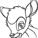 Bambi Smile Face Coloring Pages