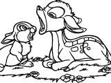Bambi Thumper And Bunny Sleep Coloring Pages