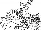 Bambi Weeds Coloring Pages