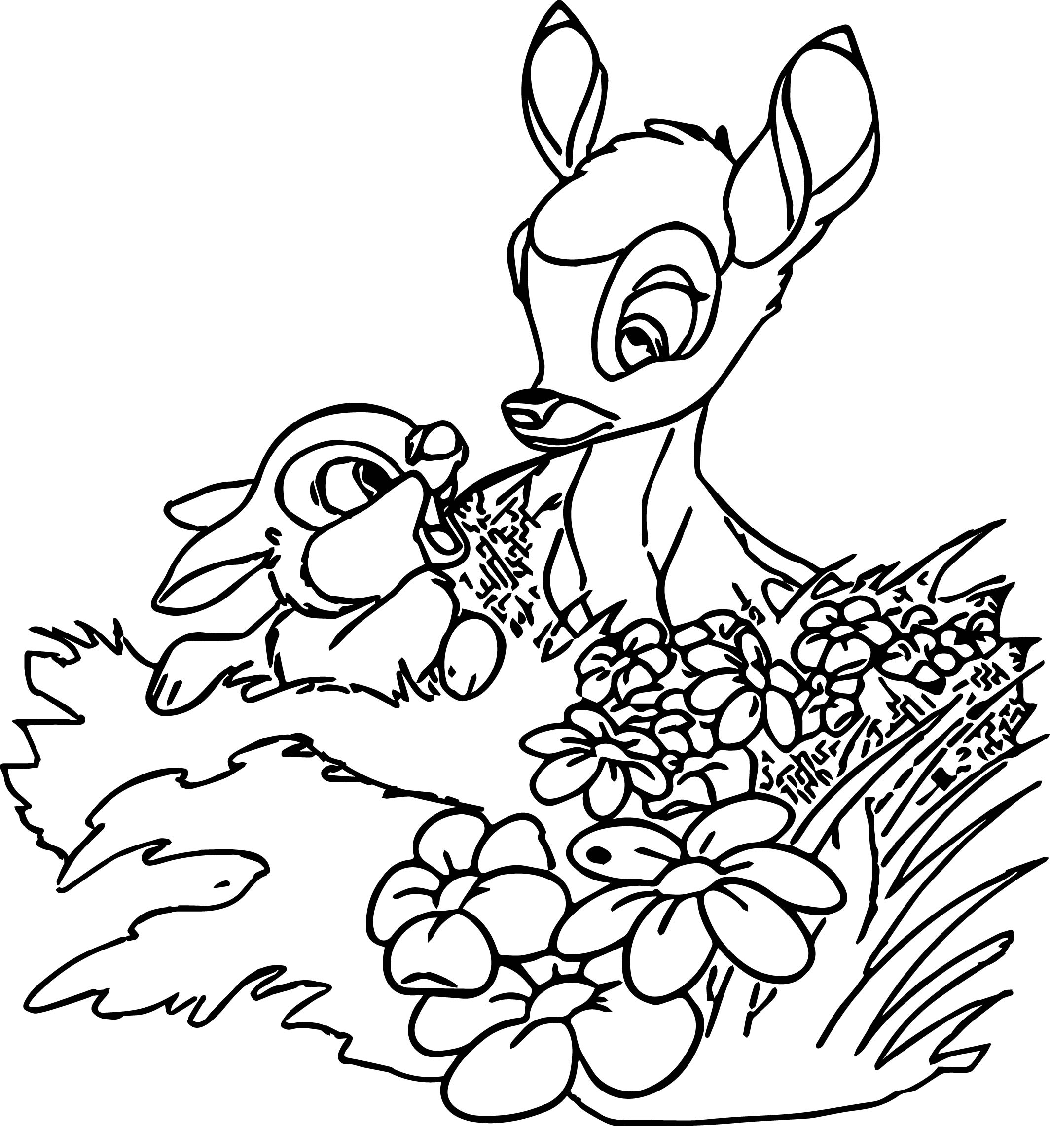 Bambi weeds coloring pages for Bambi coloring page