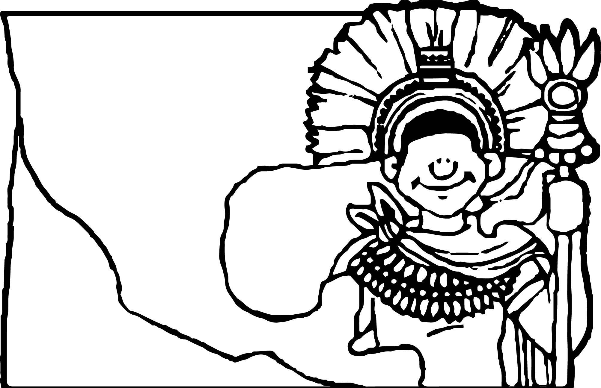 Banner Aztecs Coloring Page