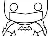 Batman Funko Chibi Cartoon Figure Graphic Coloring Page