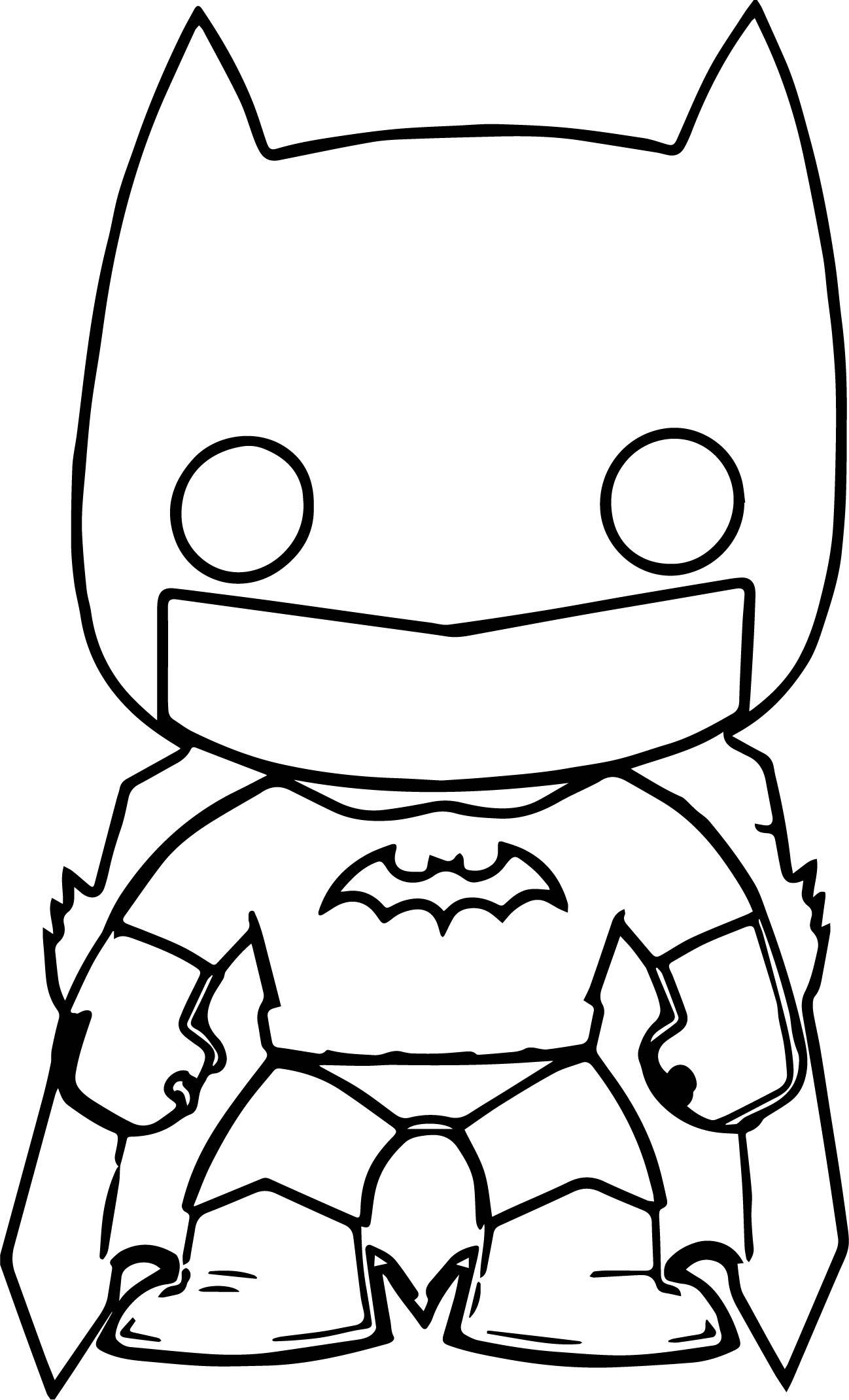 Batman Funko Chibi Cartoon Figure Graphic Coloring Page