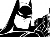 Batman In The City Coloring Page