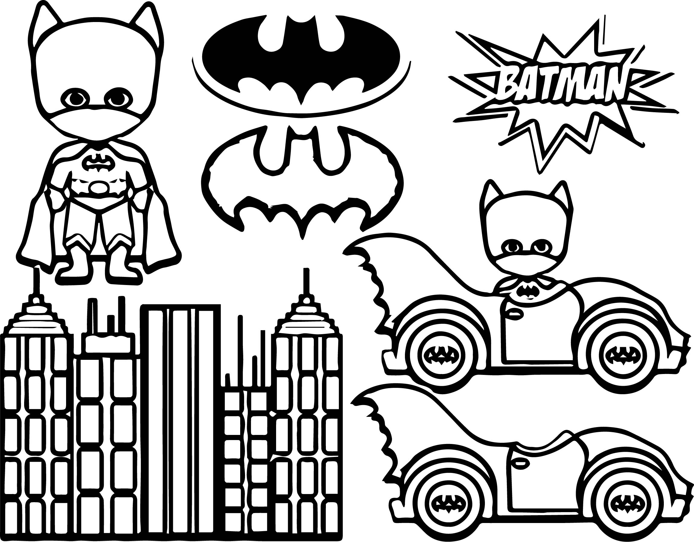 Batman Kids Coloring Page