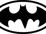 Batman Logo Black Coloring Page