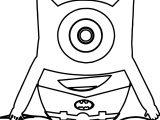 Batman Minion Outline Coloring Page