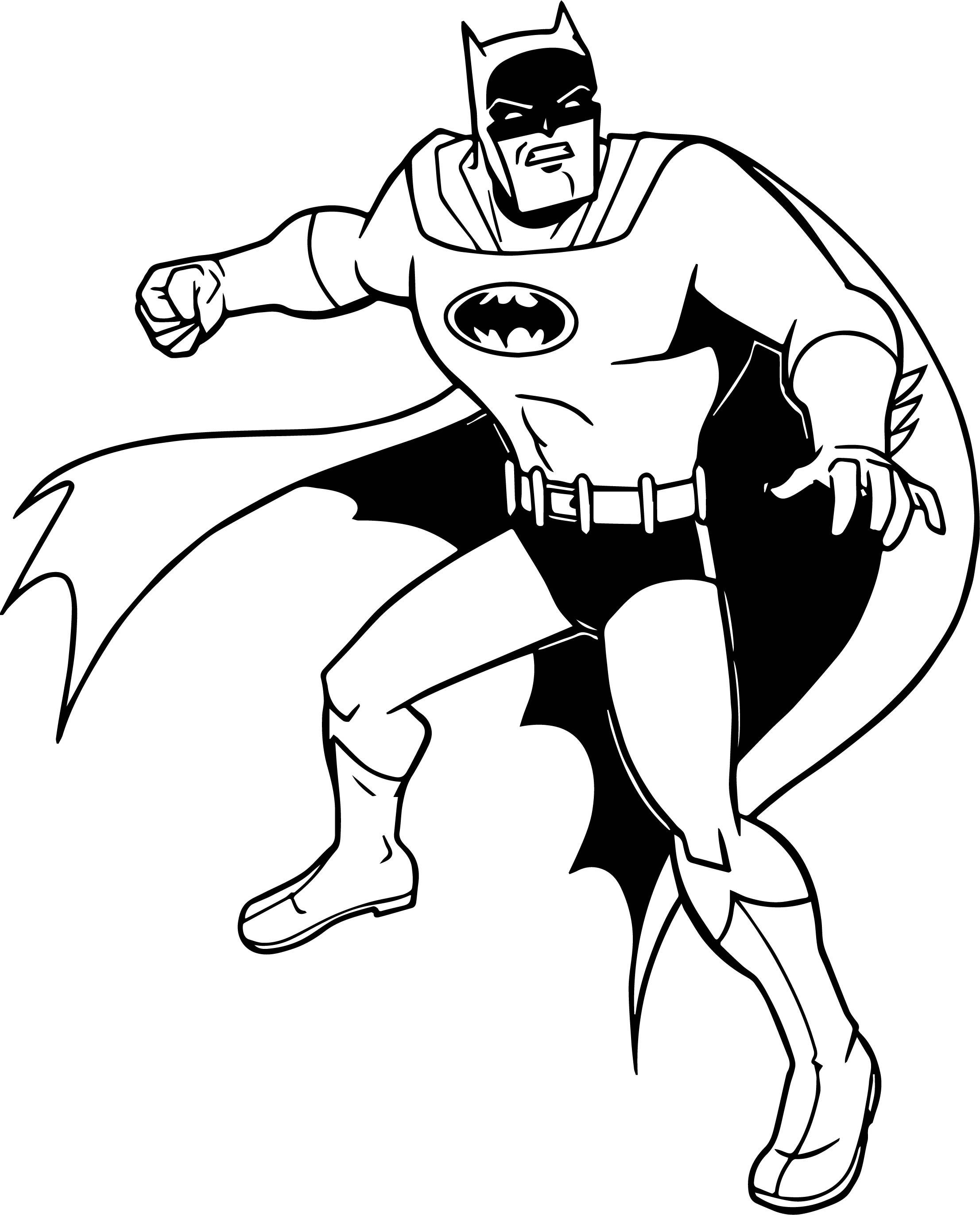 Batman Punch Coloring Page