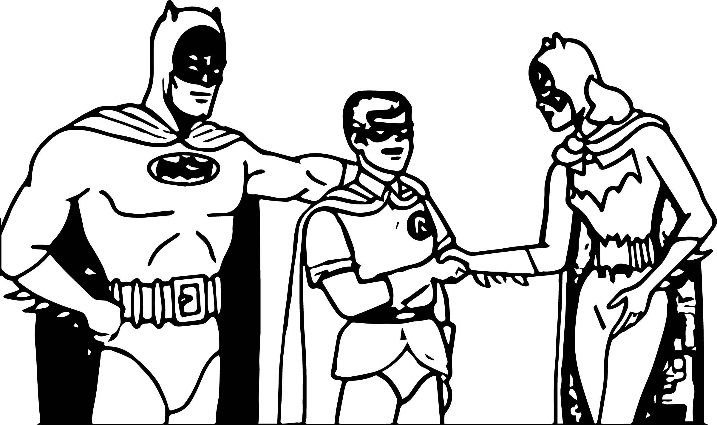 Batman Superman Super Girl Adventures Coloring Page