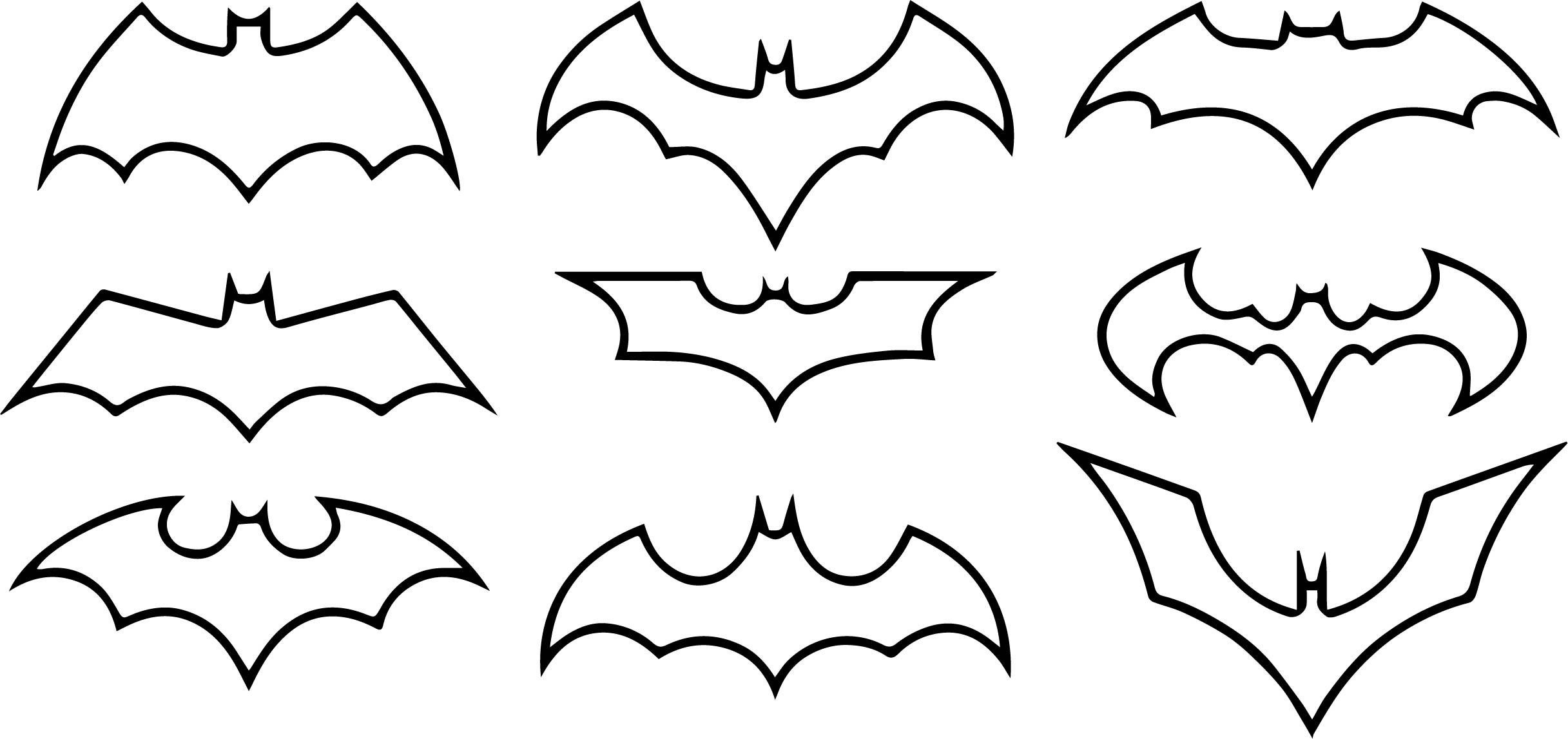 Batman symbol coloring page for Batman logo coloring pages