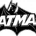 Batman Text Coloring Page