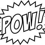 Batman Words Pow Text Coloring Page