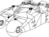 Batmobile Tumbler Car Coloring Page