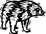 Bear Clipart Coloring Page