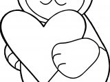 Bear Heart Coloring Page