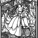 Belle Beast Stained Glass Coloring Pages