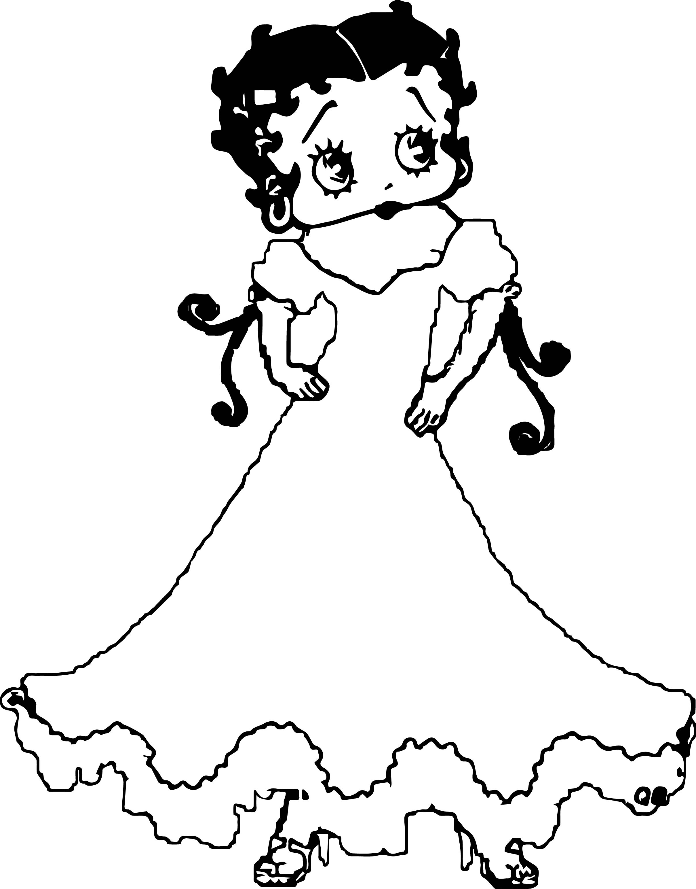Betty Boob Wedding Coloring Page