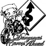 Betty Boop Dangerous Curves Ahead Coloring Pages