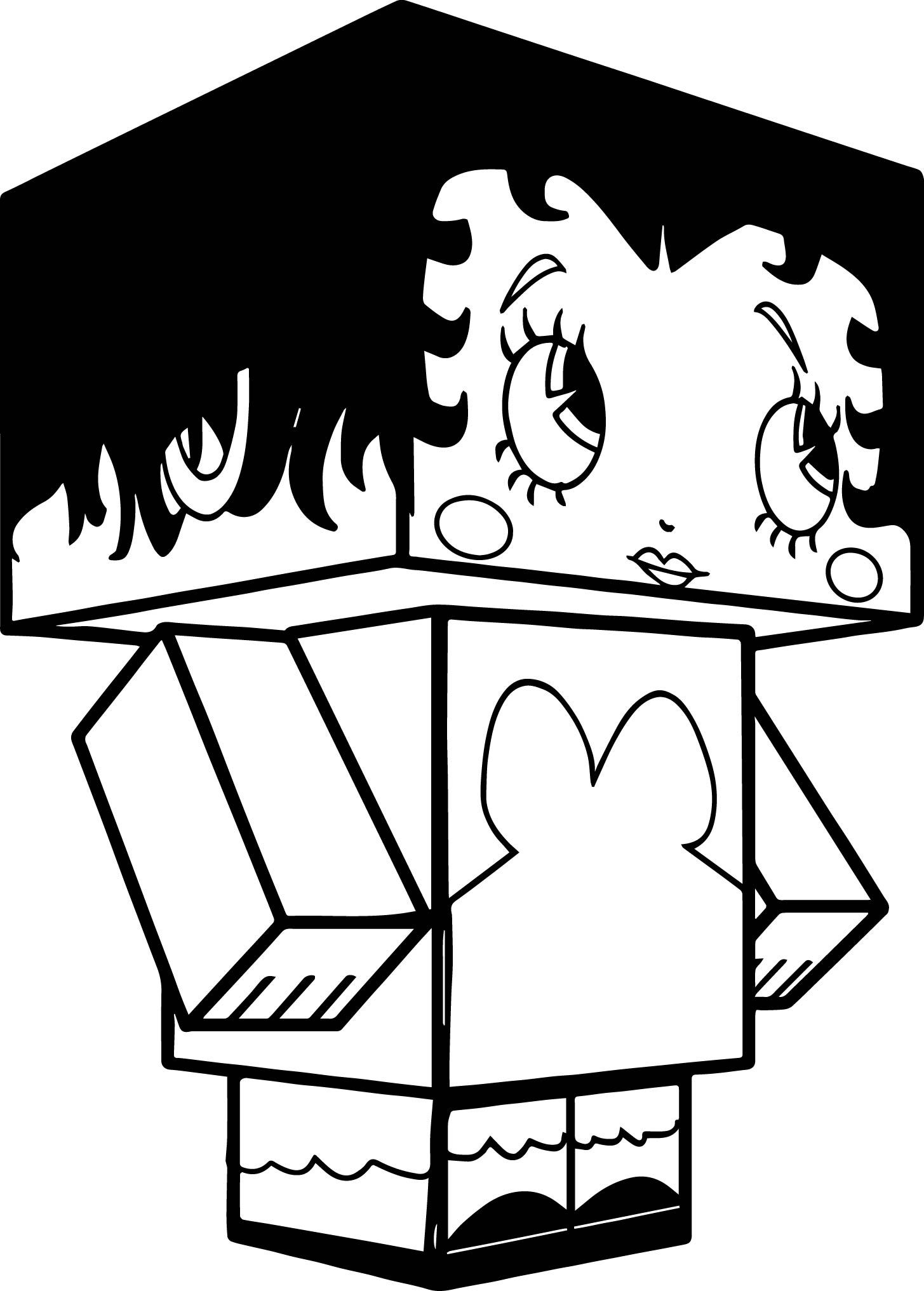 Betty Boop Minecraft Coloring Page