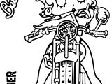 Betty Boop Wild Bike One Coloring Page