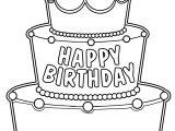 Big Birthday Cake Coloring Page