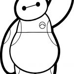 Big Hero Hello Characters Baymax Coloring Page