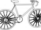 Biycle Coloring Page Sheet