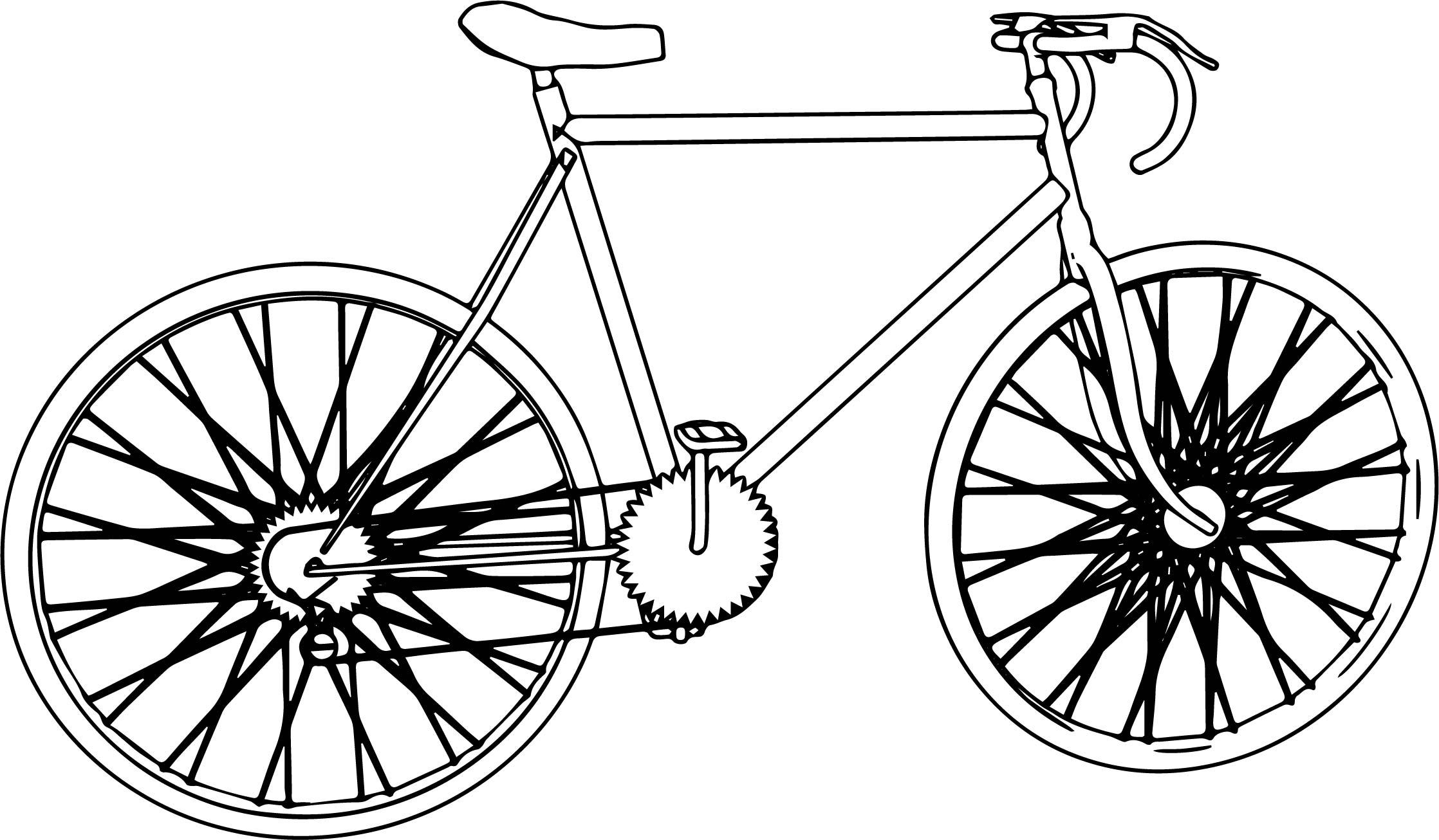 Biycle Coloring Page Sheet