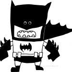 Black Batman Cartoon Coloring Page