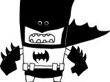 Black Batman Cartoon Coloring Page