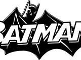 Black Batman Logo Coloring Page