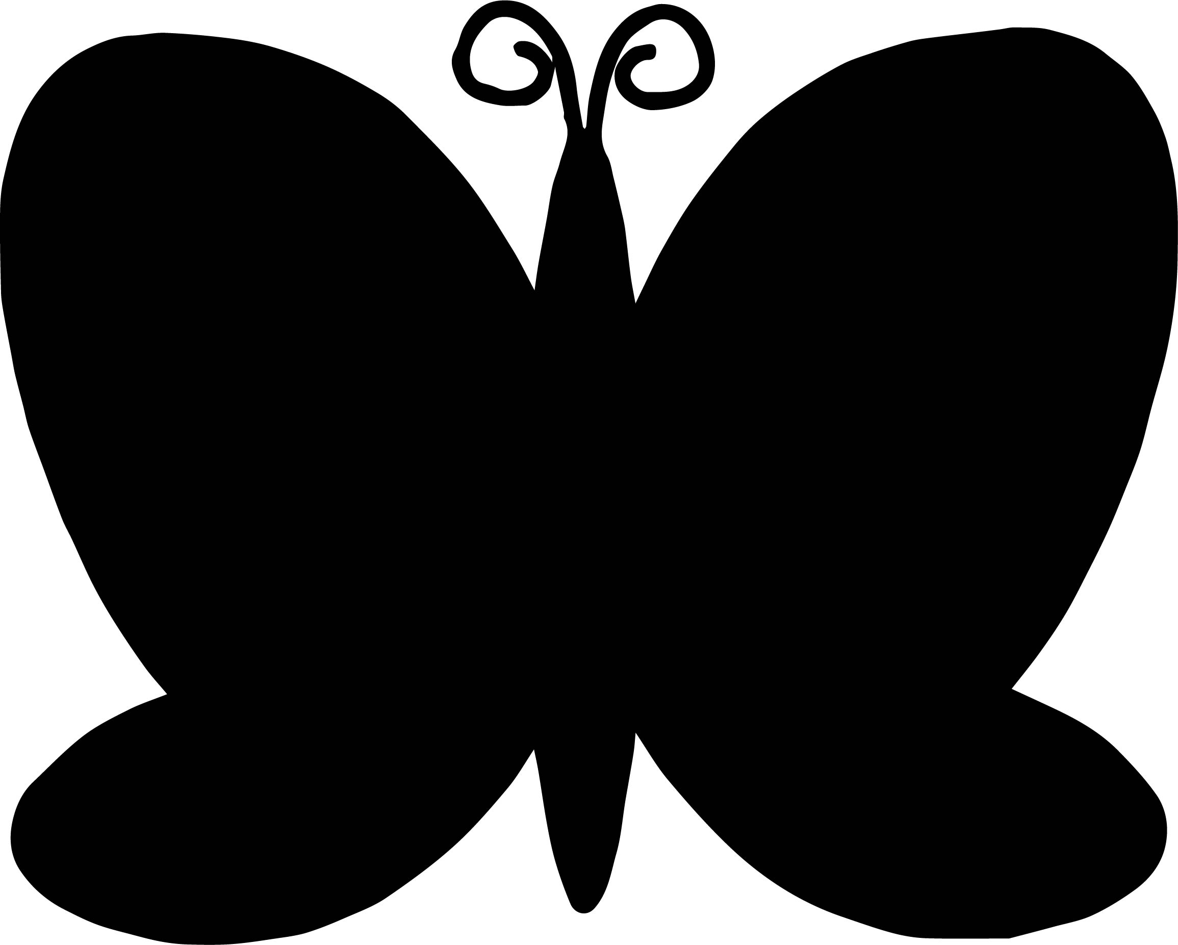 Black Butterfly Coloring Page