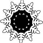 Black Circle Snowflake Coloring Page
