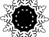 Black Circle Snowflake Coloring Page