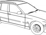 Bmw 318 Model Touring Car Coloring Page