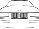 Bmw 318 Model Touring Car Front Coloring Page