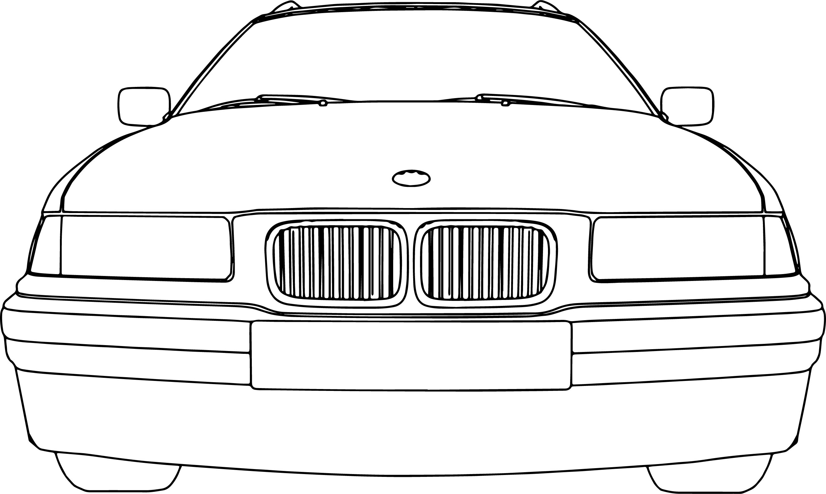 Bumper Car Coloring Pages : Bmw model touring car front coloring page wecoloringpage