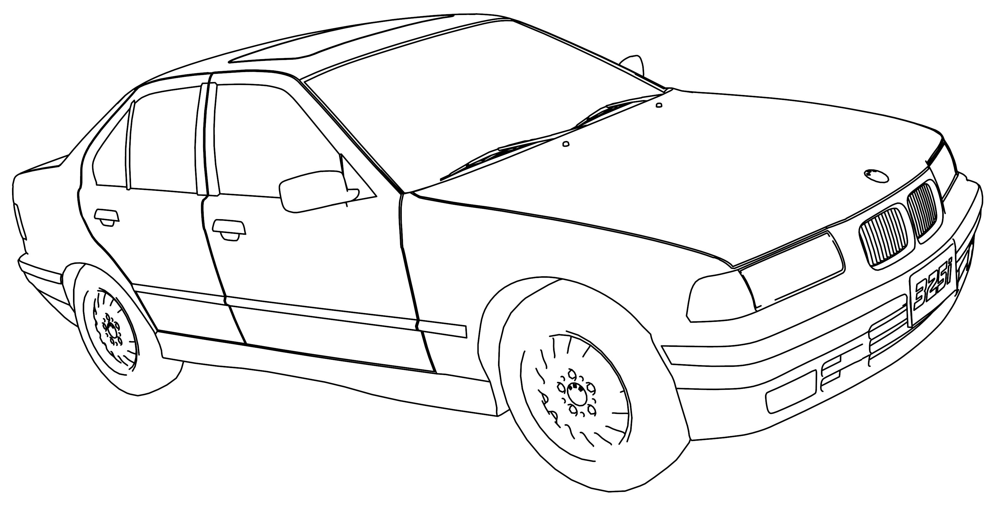 Bmw 325i Model Car Coloring Page