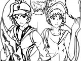 Boboiboy Elemental Split Coloring Page