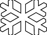 Bold Snowflake Coloring Page