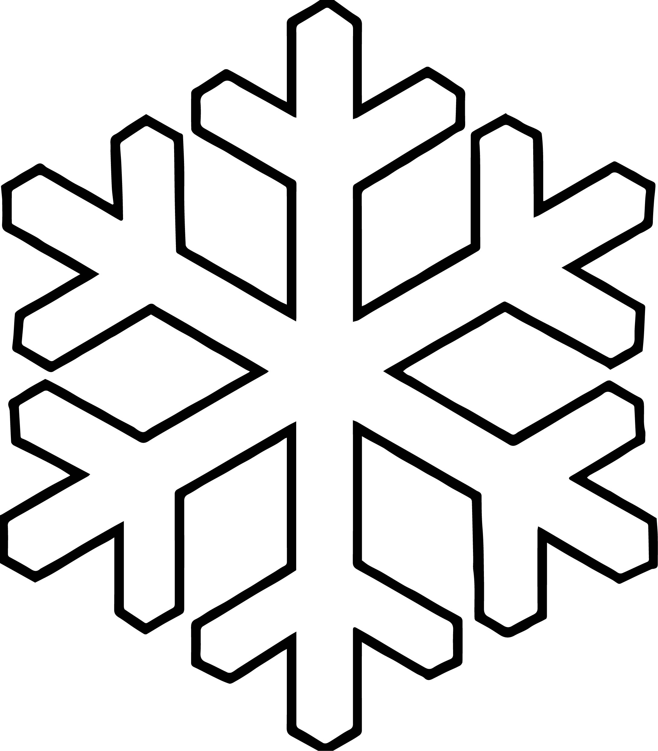 bold snowflake coloring page - Snowflake Coloring Page