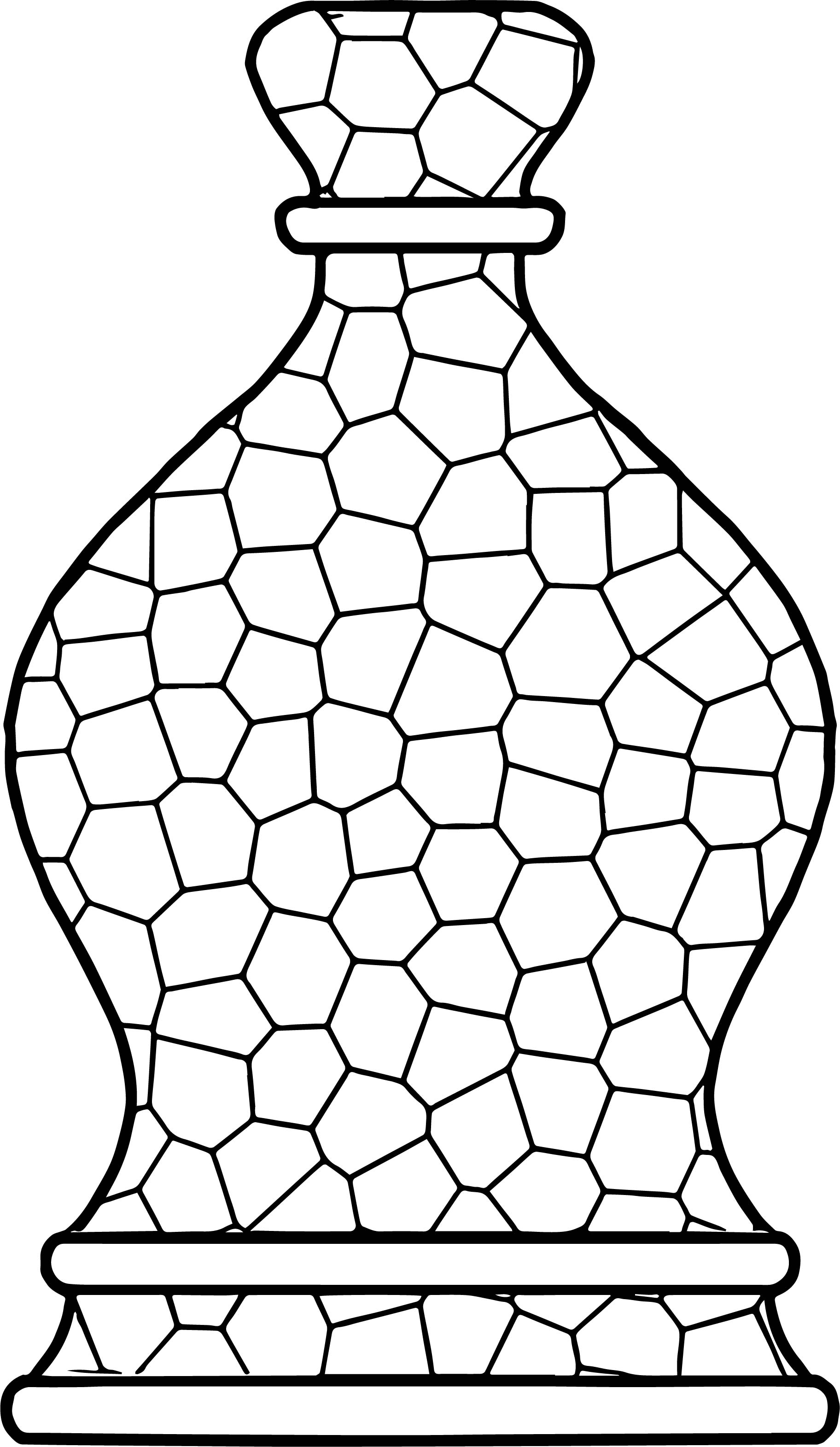 Bottle Stained Glass Coloring Page | Wecoloringpage.com