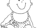 Boy Baby Coloring Page