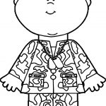 Boy Kids Soldier Coloring Page