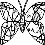 Butterfly Stained Glass Coloring Page