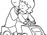 Caillou And Rosie Caillou Coloring Page