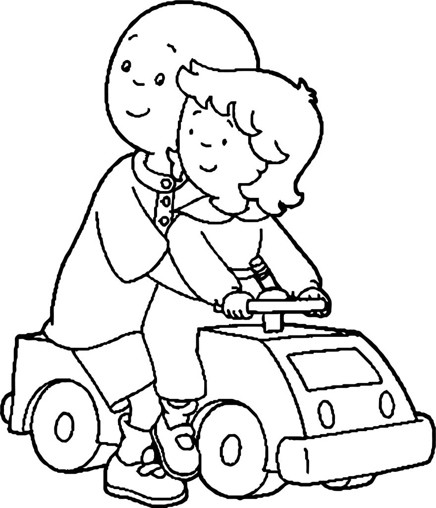 Caillou And Rosie Caillou Coloring Page | Wecoloringpage