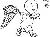 Caillou Butterfly Coloring Page