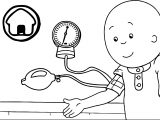Caillou Check Up Doctor Coloring Page