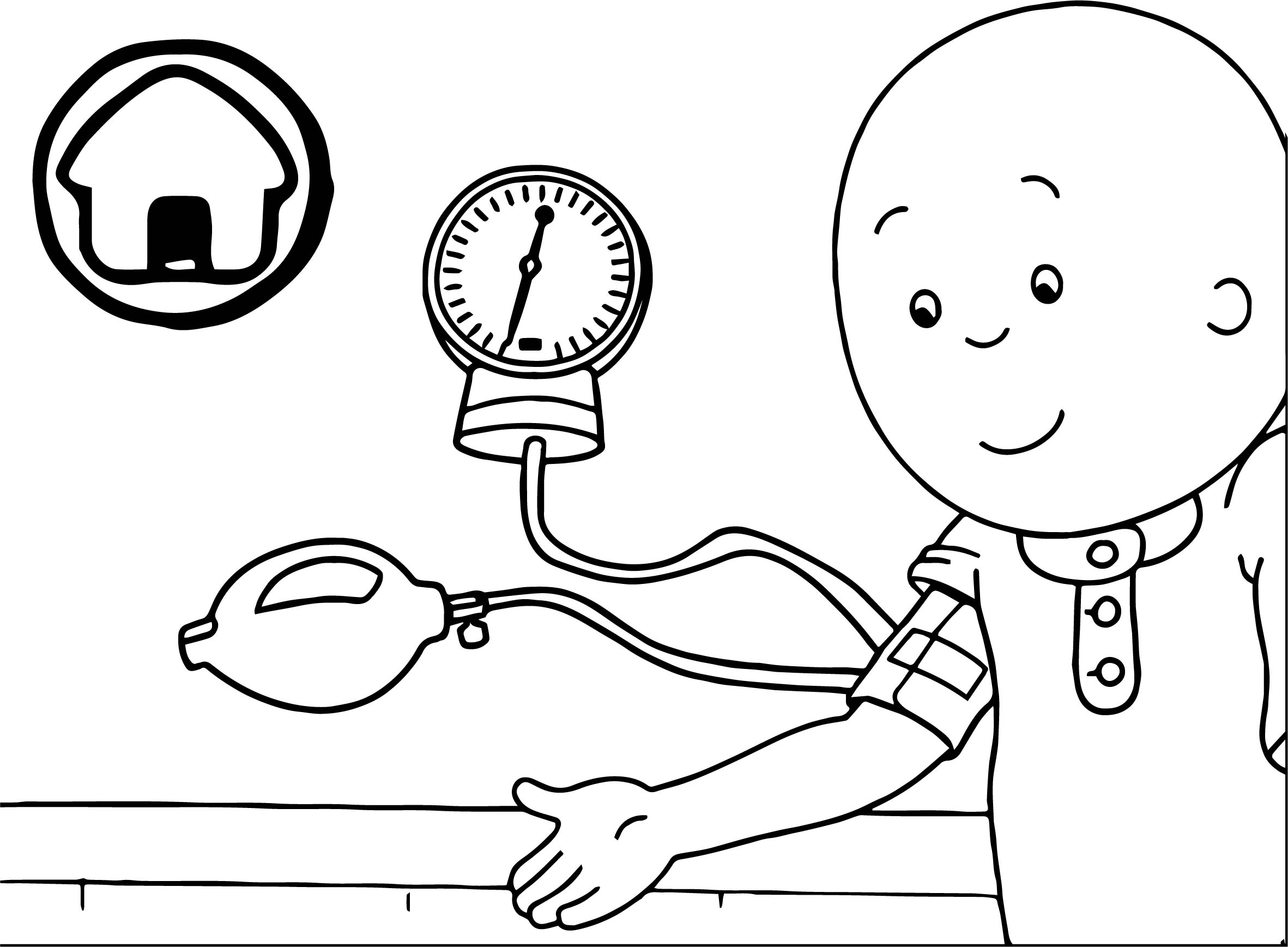 caillou check up doctor coloring page - Doctor Coloring Page